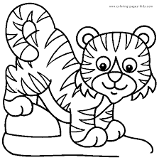 coloring pages of tigers cup color page