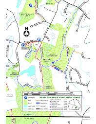 Concord Massachusetts Map by On The Land Cr Properties With Public Access Estabrook Woods