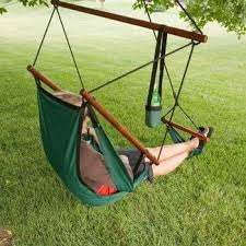 free standing hammock folding chair with footrest hanging chair