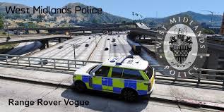 west midlands police 4k range rover vogue skin gta5 mods com