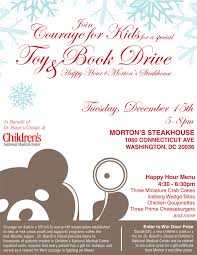 courage for kids host toy u0026 book drive for dr bear u0027s closet at
