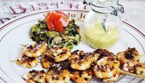 cuisine à la plancha plancha grill recipe shrimp skewers glisten cing glisten