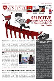 the lpu independent sentinel 2016 2017 second issue by the lpu