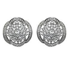 cubic zirconia stud earrings alisa fancy cluster cz stud earrings cubic zirconia silver