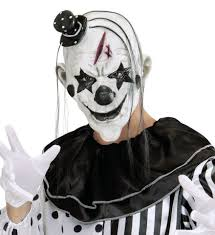 killer clown mask killer clown mask with hair mini hat the carnival store