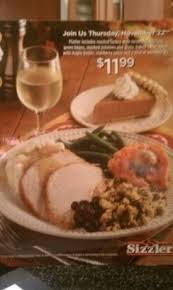 come join sizzler for thanksgiving open from 11 7 with a turkey