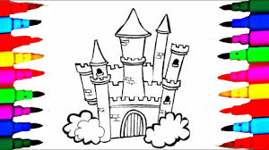 draw castle 8 1 disney princesses coloring pages