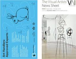 visual artists u0027 news sheet 2014 september october by