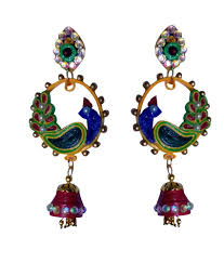 quilling designs peacock earrings
