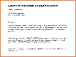 termination letter sample sop example
