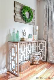 Diy Console Table Plans Fretwork Console Table