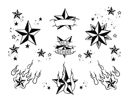 nautical star tribal tattoo design