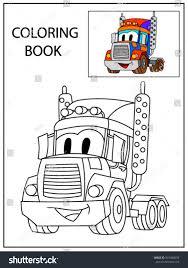 funny smile cartoon truck coloring book stock vector 557498659