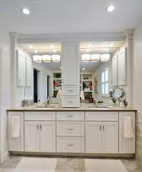 Others Artistic White Bathroom Vanity Light Using Metal Sconces - Bathroom vanity light with shades