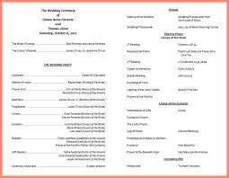 wedding program catholic catholic wedding program template bid letter