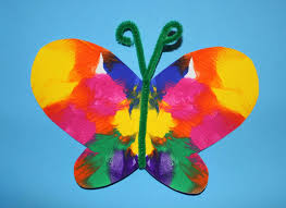 symmetrical painted butterfly craft the end in mind