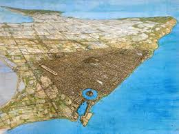 Punic Wars Map A View Of Roman Carthage Built On The Site Of The Previously