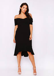 bodycon dress chanelle fishtail bardot bodycon dress