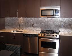 Image Of Good Kitchen Backsplash Ideas Image Of Unique Stainless - Kitchen metal backsplash