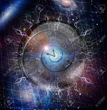 spiral of time enclosed in crystal sphere stock photo picture and