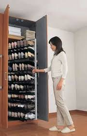 shoe organizer it s like a giant pull out spice rack for shoes love it built