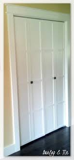 How To Build Bi Fold Closet Doors Remodelaholic 40 Ways To Update Flat Doors And Bifold Doors