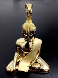 necklace pendants charms images Hand crafted custom 18k gold buddha pendant charm by jewelryking jpg