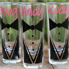 wedding gift groomsmen 10 custom glasses groom tux with from holbert and company
