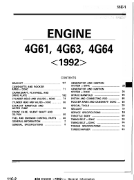 89 93 4g63 engine manual throttle belt mechanical