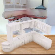 dolls house kitchen furniture 16pcs set doll house kitchen furniture cabinet cupboard closet 1 30