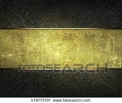 Gold Nameplate Clipart Of Dark Texture With Gold Scuffed With A Gold Nameplate
