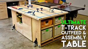 portable track saw table ultimate t track assembly outfeed table workbench with systainer