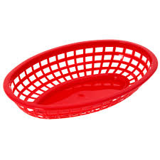 food baskets tablecraft 1074r oval plastic food baskets 9x6 dz
