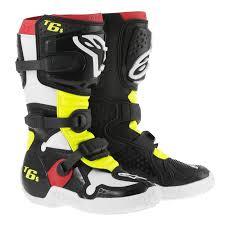 motocross boots alpinestars youth mx boots alpinestars tech 6 s black yellow white