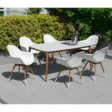Eucalyptus Outdoor Table by Chamonix 7 Piece Eucalyptus Dining Set