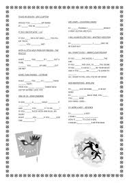Wavin Flag Lyrics Mixed Grammar Board Game 2 Worksheet Free Esl Printable