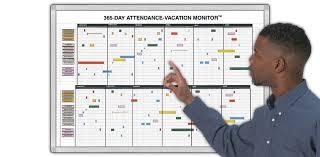 365 day attendance vacation monitor attendance tracker