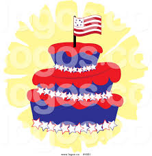 Dessert Flags Royalty Free Vector Of A Three Tiered American Cake With A Flag