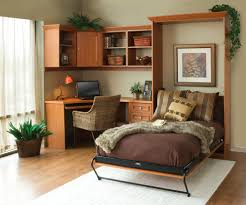 murphy bed with desk home office contemporary with bookshelves
