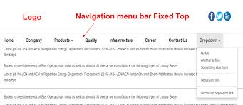 menu templates for bootstrap responsive bootstrap navigation menu bar fixed top position in