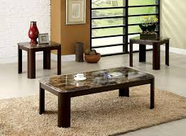 Carson Coffee Table Carson Coffee Table 2 End Tables Cm4008 3pk Furniture Of America