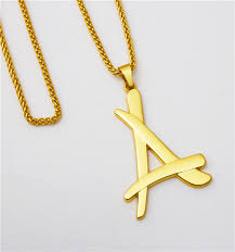alumni chain 2017 newest superstar alumni a letter pendants necklace gold color