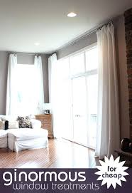 curtains for large picture window window blinds curtains on windows with blinds large window