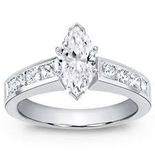 marquise diamond engagement ring 1 42 ct tw marquise cut diamond engagement ring in platinum