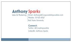 Sales Business Card The Most Important Business Card Anthony Sparks Pulse Linkedin