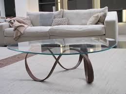 Glass Side Tables For Living Room by Living Room Round Transparent Glass Side Table Nice Curvy Silver
