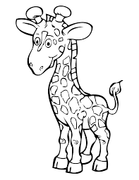 cute giraffe cartoon coloring pages