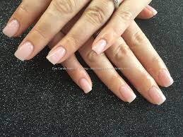 acrylic nails with natural pink gel polish nail technician joanne