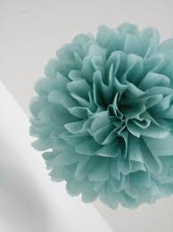 dusty blue tissue paper pompom kit pastel vintage romantic