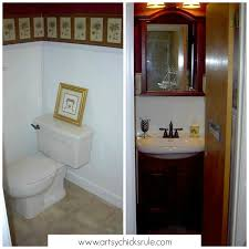Bathroom Makeover On A Budget - guest bath makeover on a budget before u0026 after artsy rule